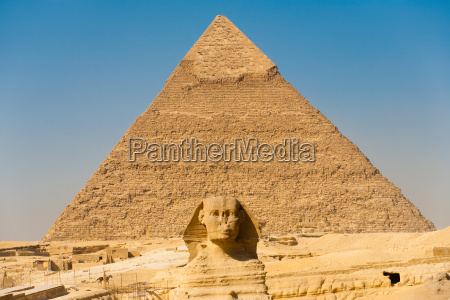 famoso sfinge piramidi centrato punto di