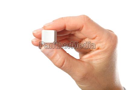 tenere pulsante tasto presentato senza etichetta
