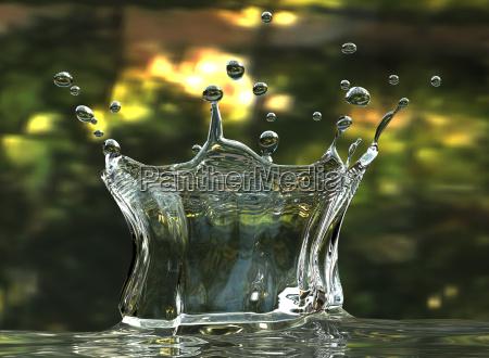 liquido impatto urto aumento fluido acqua
