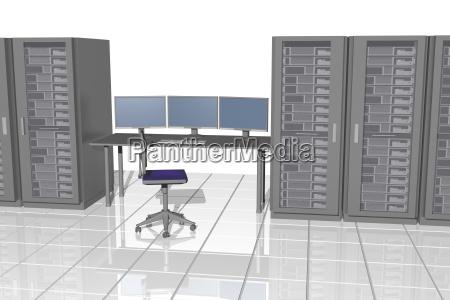 sala server con tavolo