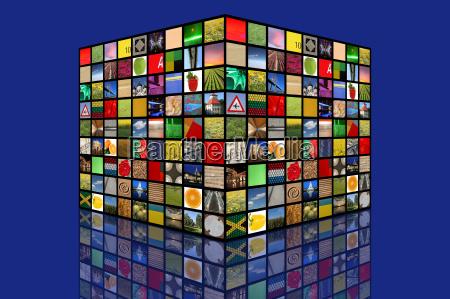 quadrato foto diversita modello struttura di