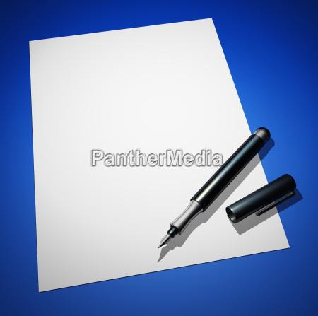 lettera con la penna stilografica sul