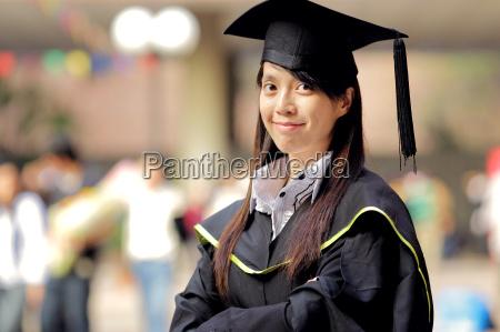 asiatico laurea ragazza