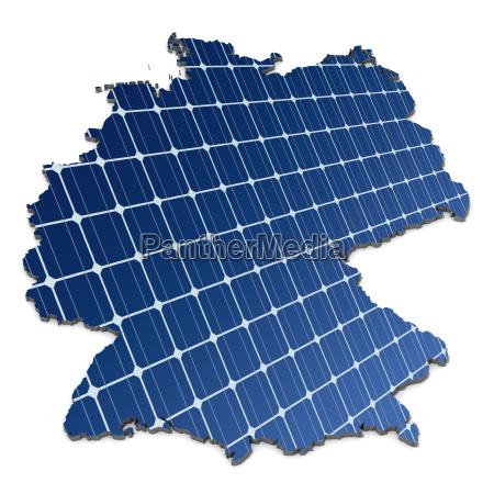 celle solari monocristalline in una mappa