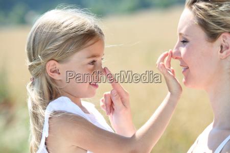 madre e figlia di mettere la