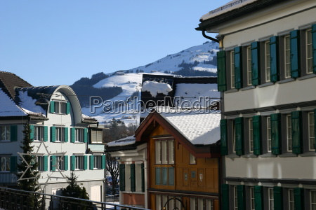svizzera corda villaggio appenzell ch innerrhoden