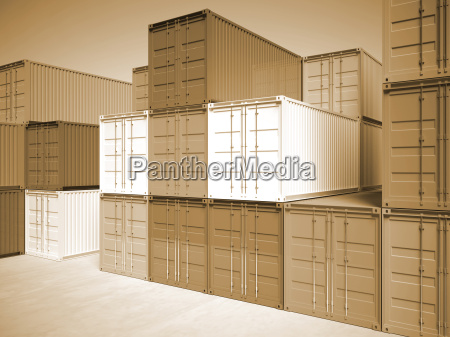 image of classic container 3d