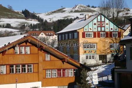 casa costruzione svizzera villaggio appenzell innerrhoden