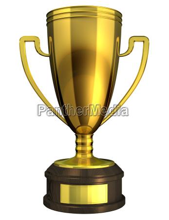 tazza rilasciato appartato vincitore isolato premio