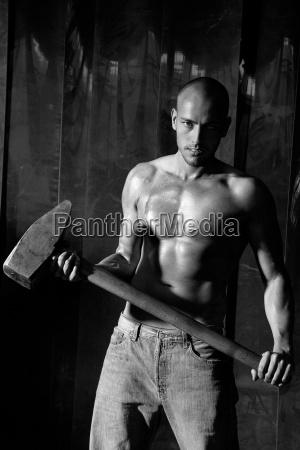 muscoli forza lavoratori lavoratore uomo