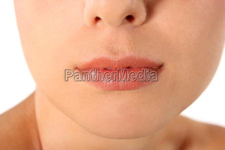 donna primo piano close up bocca