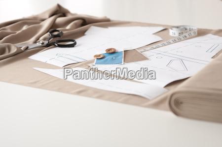 studio di design di moda con