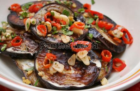 cucinare cucina verdura vegetariano melanzane fresco
