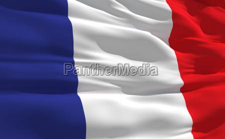 sventolando la bandiera della francia