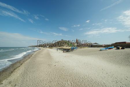 on the beach of rerik baltic