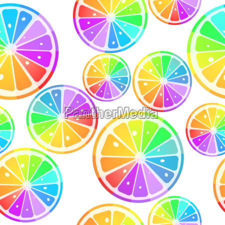 illustrazione arcobaleno modello tegola piastrella fette