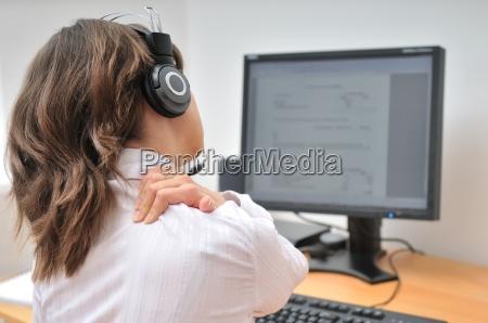 ufficio dolore monitor affare affari lavoro