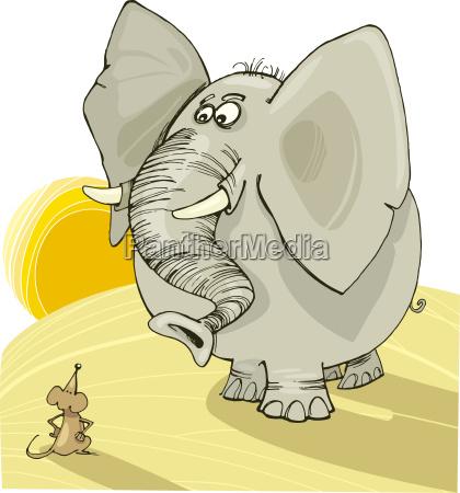 africa elefante savana roditore illustrazione topo