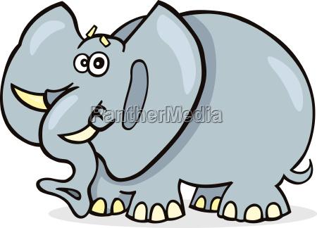 animale africa elefante illustrazione divertente fumetto