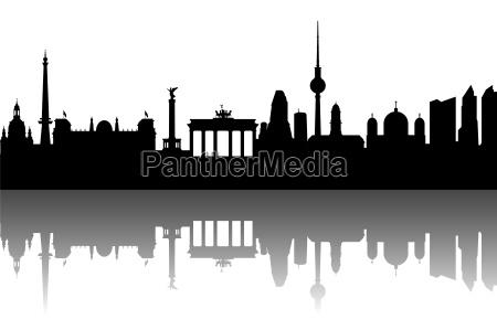 berlino skyline astratto