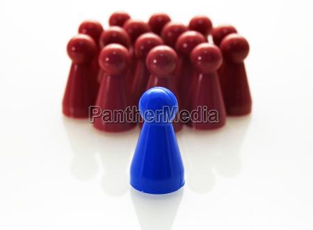 concetto di leadership rosso blu