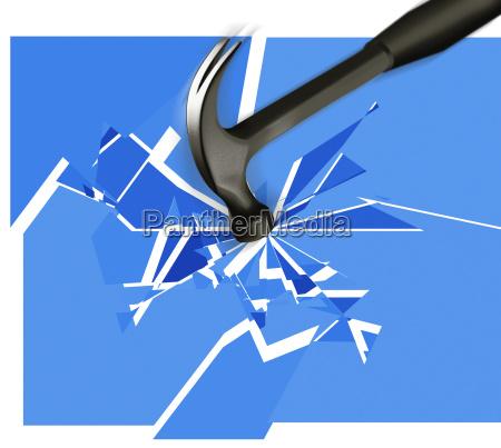 rottura del vetro del martello