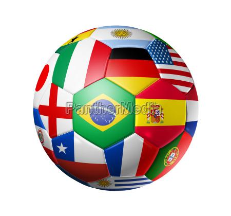 sfera di calcio calcio con mondo