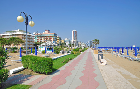 lido di spiaggia sulladriatico italiano