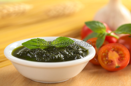 pesto made of basil