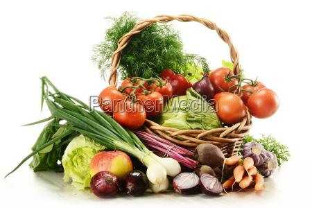 cibo cestino verdura pomodoro vimini vegetale