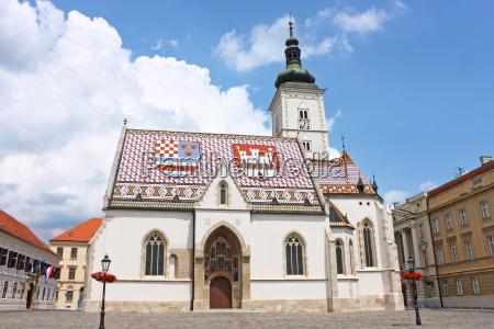 chiesa di san marco zagabria croazia