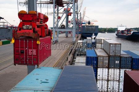 trasporto contenitore porto esportazione export carico