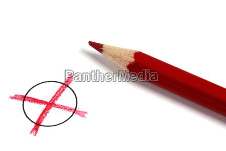 voto test sondaggio elezione scelta matita