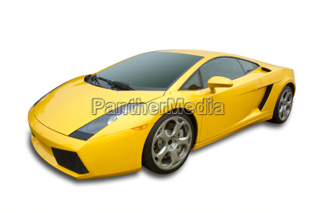 auto sportiva isolata