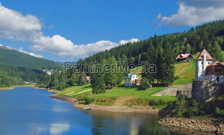 lago elbstausee a spindlermuehle nei monti
