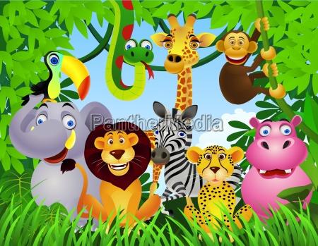 animale nella giungla