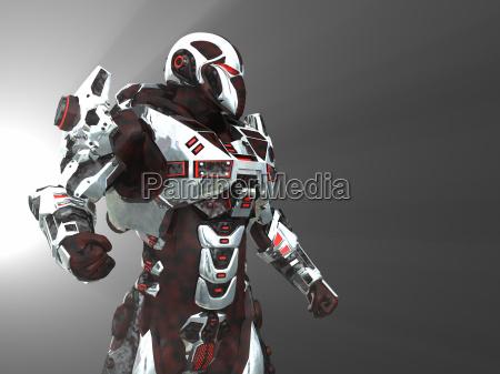 robot da battaglia futuristico