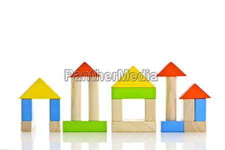 blocchi di legno edifici