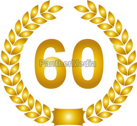 golden lorbeerkranz 60 years