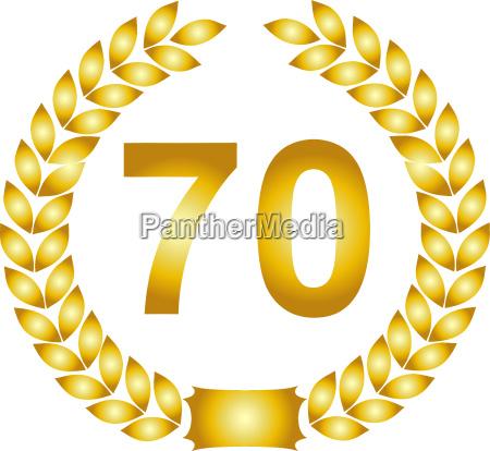 golden laurel wreath 70 years