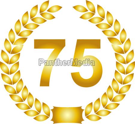 golden laurel wreath 75 years