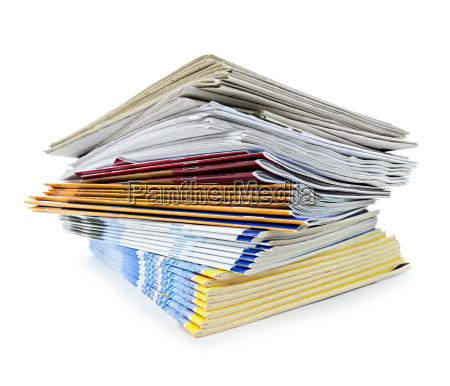 giornali impilati riviste stampato impilato pubblicazioni