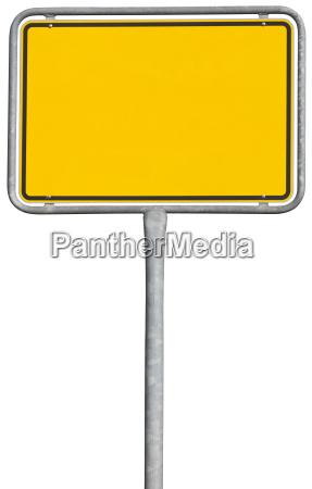 segno di posizionamento giallo percorso di