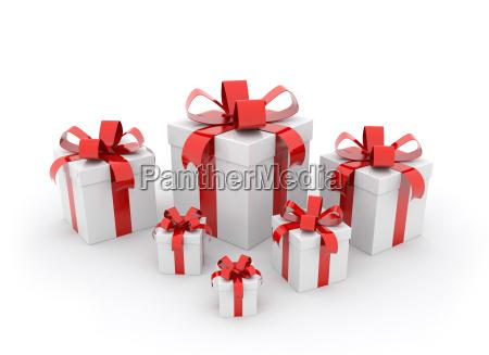 scatole regalo rosse