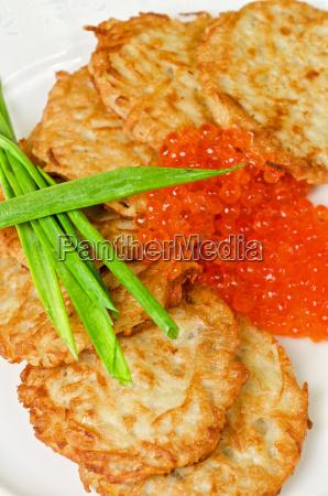 frittelle, con, caviale, rosso - 5471030