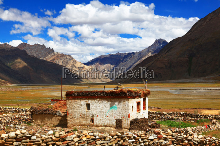 casa costruzione india tibet tradizione montagna