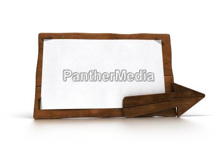 vecchio pannello di legno su bianco
