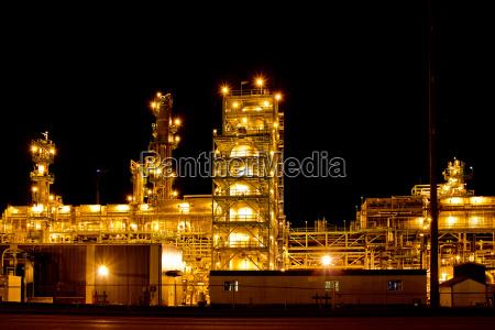 industria notte fabbrica produzione struttura
