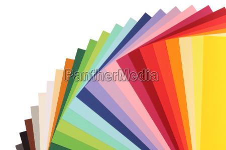 teoria dei colori cartoncino colorato