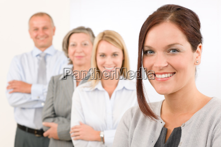 business, team, happy, standing, in, line - 5834077
